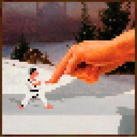 Maxi poster Minecraft mano 61x61 cms