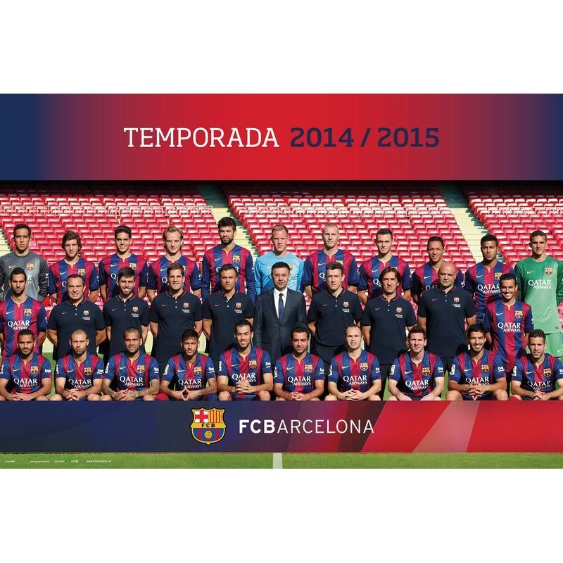Maxi Poster Fc Barcelona Plantilla 2014/2015 - Nosoloposters.com