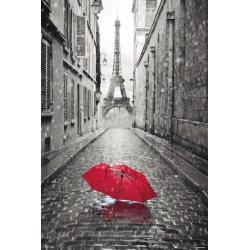 Maxi Poster Paris Paraguas Rojo