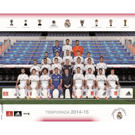 Mini Poster Real Madrid Plantilla 20114/2015