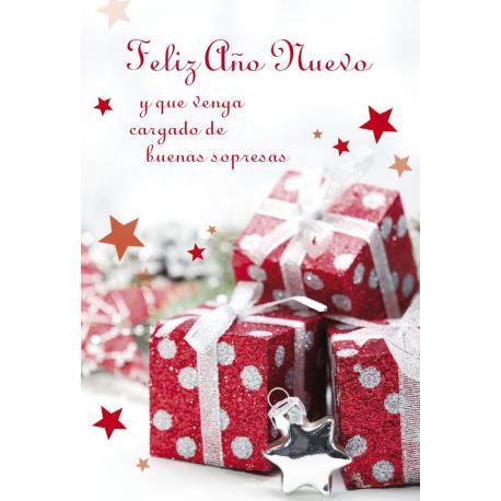 Tarjeta Felicitacion Feliz Año Nuevo Y Que Venga Cargado De Sorpresas