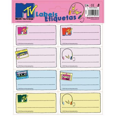 Etiquetas Gr/Labels -Mtv