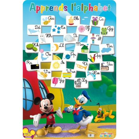 Planches Éducatives Alphabet Mickey Mouse
