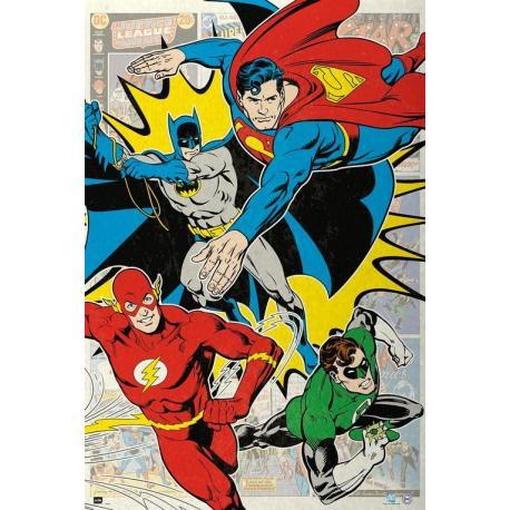 Maxi Poster Dc Comic 4 Superheroes