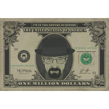 Poster Breaking Bad (Heisenberg Dollar)