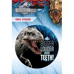 Pegatina de Vinilo Jurassic World Mas Dientes