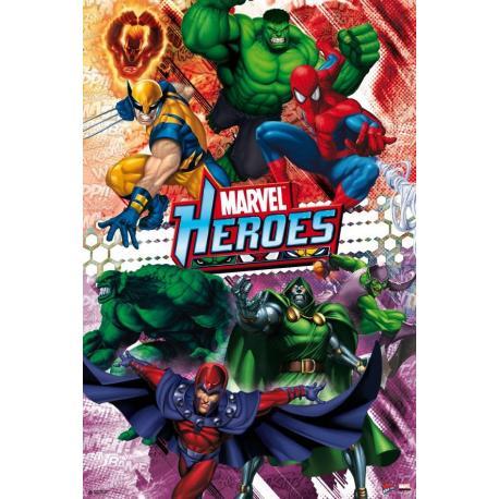 Poster Heroes de Marvel