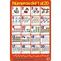 Lámina Educativa Aprà¨n A Comptar de l'1 al 20