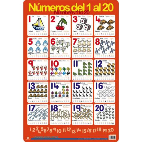 Làmina Educativa Aprà¨n A Comptar de l'1 al 20