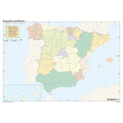 Pack mapas mudos España (5+5)