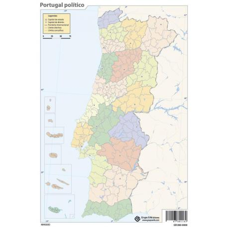 Pack mapas mudos Portugal (5+5)