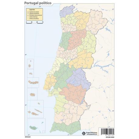 Pack mapas mudos Portugal (5+5)