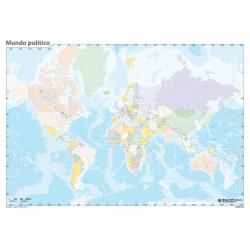 Pack mapas mudos Mundo - en Portugues (5+5)