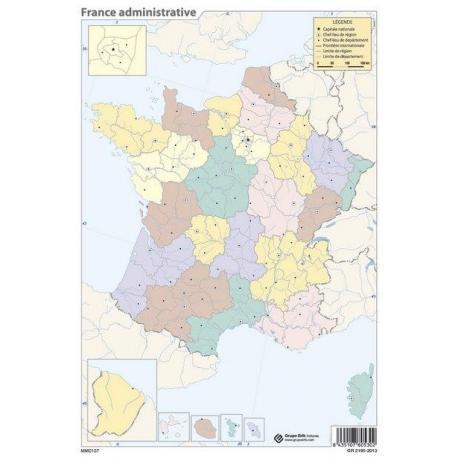 Pack mapas mudos Francia (5+5)