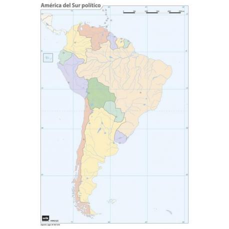 Pack mapa mudo América del Sur (5+5)