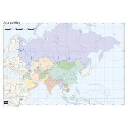 Pack mapa mudo Asia (5+5)