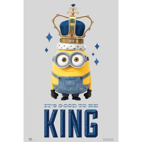 Poster Minions it's good to be king