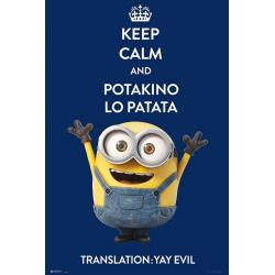 Poster Minions keep calm and potakino lo patata