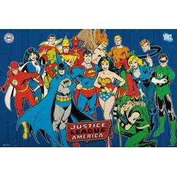 Poster DC Comics Liga de la Justicia america
