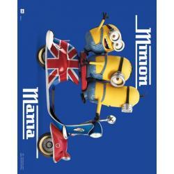 Mini poster Minions vespa