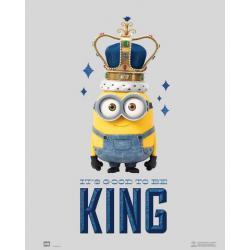 Mini poster Minions it's good to be king