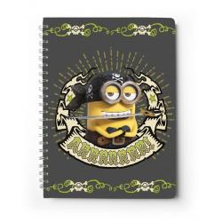 Cuaderno tapa dura A4 Minions piratas