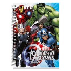 Cuaderno tapa dura A5 Los Vengadores