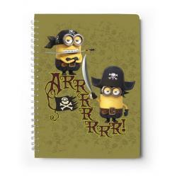 Cuaderno tapa dura A5 Minions piratas
