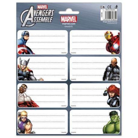 Etiquetas Marvel Los Vengadores