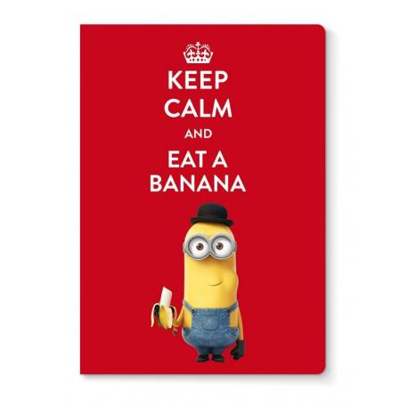 Libreta grapa A4 Minions eat a banana