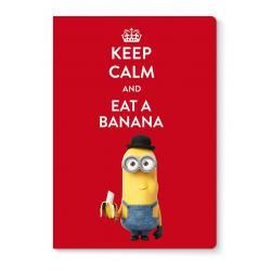 Libreta grapa A5 Minions eat a banana