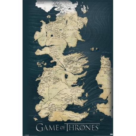 Poster Mapa Juego de Tronos