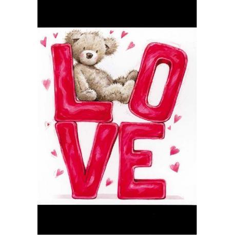 Tarjeta Felicitacion Love