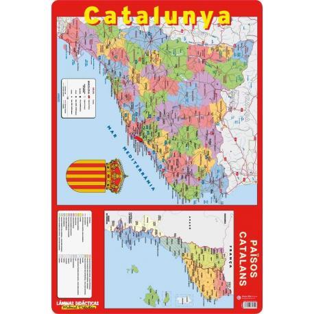 Lámina Educativa Mapa Catalunya
