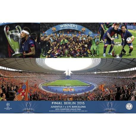 Poster F.C. Barcelona Champions Estadio Celebracion
