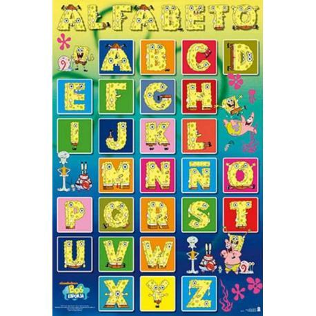 Poster Bob Eponja Alfabeto