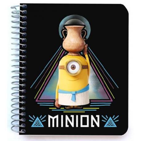 Mini notebook polipropileno Minions egipcios