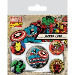 Pack de chapas capitan america Marvel retro
