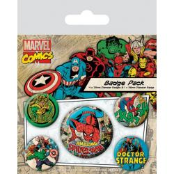 Pack de chapas Marvel Spiderman retro