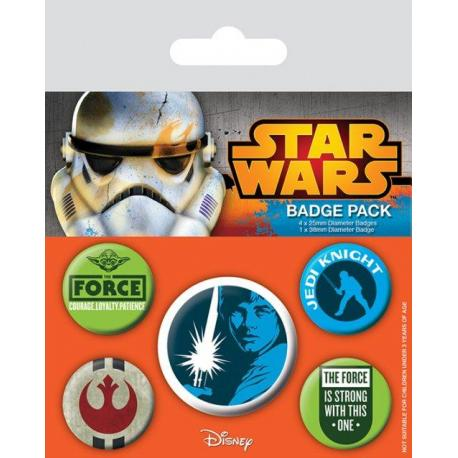 Pack de Chapas Star Wars Jedi