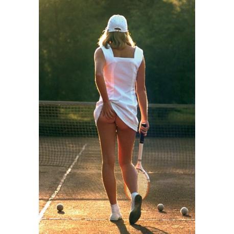 Poster Mujer Jugando al Tennis