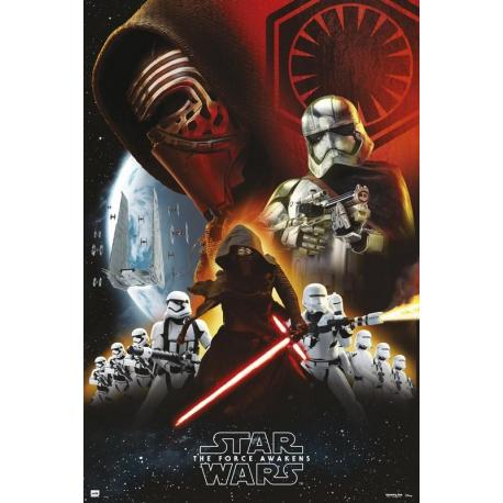 Poster Star Wars empire Black