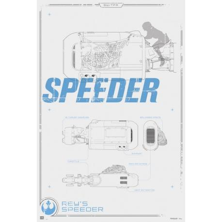 Poster Star Wars Rey's Speeder