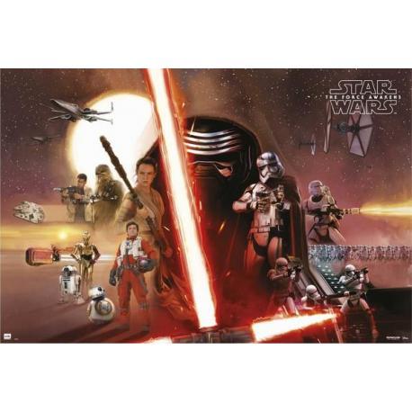 Poster Star Wars todos los personajes