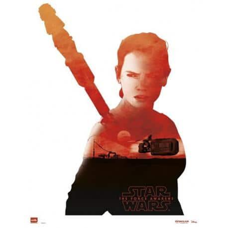 Mini poster Star Wars Rey