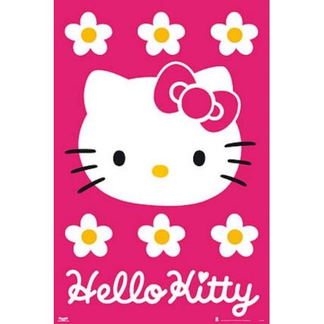 Poster Hello Kitty Fondo Rosa