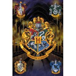 Poster Harry Potter escudos