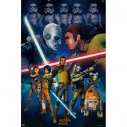 Poster Star Wars duelo rebelde