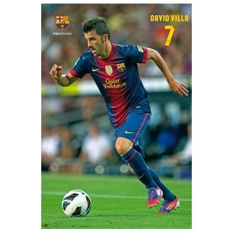 Poster F.C. Barcelona David Villa