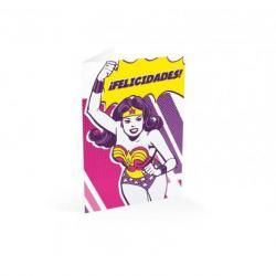 Tarjeta felicitacion ¡felicidades! Wonderwoman